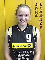 Jana Lindner, girls basketball player, in BG Main-Elsava (Bezirksoberliga Bezirks: Unterfranken) uniform #9.