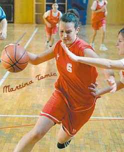 Martina Tomic, for Kozala, dribbling past a Pomurvice player in the Feb. 7, 2007 Rijeka SSK championship game.