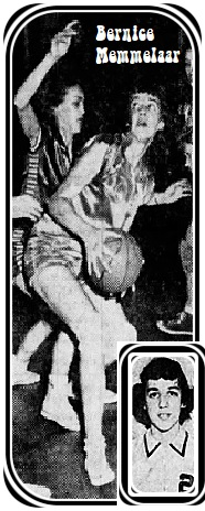 Images of Iowa girls basketball player, 1952. Portrait in #2 Pella Christian High School uniform, from The Des Moines Sunday Register, March 2, 1952. Action shot of her looking to shoot is from the Morning Democrat, Davenport, Iowa, 3/8/1952, and shows her playing in the Iowa A.A.U. tournament semi-final game of March 7, 1952. Playing for Oskaloosa which beat Marshalltown, 47-44.