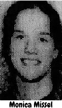 Portrait of Monica Missel, Assumption High School of Davenport girls basketball player in Iowa, 1978-79. From the Quad-City Times, Davenport, Iowa, 1/30/1980.