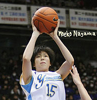 Kyoto Photo of Sapporo Yamanote High forward Moeko Nagaoka, in the game December 28, 2010 All-Japan High School Basketball Tournament where she scored 50 points, to help her team win 97 to 59 over Nakamura Gakuen High, for the title. And the Treble. A sweep of all three championships, the Wonter Cup for the All-Japan championship, the Inter-High School Championship, and the National Athletic Championship.