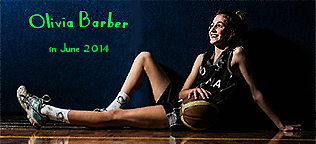 June 2014 image of Olivia Barber, girls basketball player from New South Wales.