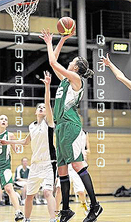 Anna (Anastasia) Riabchenko, MTV M�nchen U15 women's basketball player, going up for a lay-up.