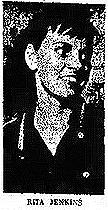 Image of North Carolina girls basketball player, Rita Jenkins, Dallas High School, 1960. From The Gastonia Gazette, GAstonia, N.C., January 30, 1960.