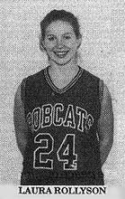 Image of Laura Rollyson, in uniform #24, Summers County Lady Bobcat, West Virginia, basketball player. From The Hinton News, Hinton, West Virginia, February 25, 1997.