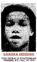 Image of Sandra Giddins, Gorton Wolve basketball player, from The Herald Statesman, Yonkers, New York, December 19, 1979, the day after she scored 58 points.