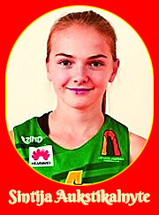 Portrait of Lithuanian girls basketball player, Sintija Aukstikalnyte, of the Birzu SC Under-14 team in 2919.