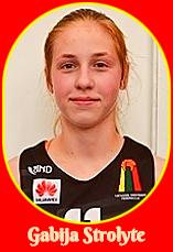 Portrait of Lithuanian girls basketball player. Gabija Strolyte, of the Kupiskio Under-14 team.