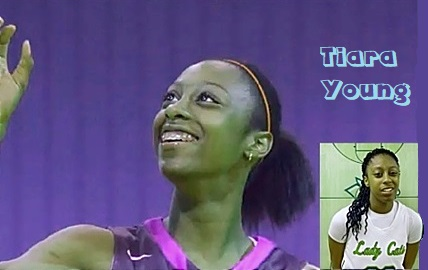 Images of Tiara Young, Walker High School of Louisiana girls basketball player.