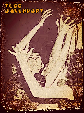 Tugg Davenport, number 5 fights for the ball for Sacred Heart High School of Ville Platte, Louisiana, in a girls basketball game. From the Daily World, Opelousas, Louisiana, Feb. 12, 1958.