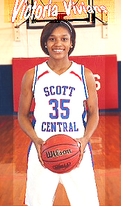 Image of Victoria Vivians, Scott Central basketball player, in uniform number 35. Mississippi