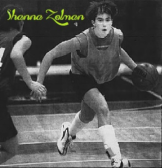 Shanna Zolman, Indian girls basketball phenom, dribbling, in practice. From The Republic, Columbus, Indiana, February 23, 2001.