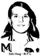 Picture of Deb Houg, MFL High, Monona (Monona-Fredericksburg-Luana) basketball player until 1974 in Iowa.