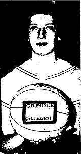 Picture of Deanna Grindle, Strahan High School (Iowa) basketball player, in the Iowa High chool Athletics Hall of Fame.