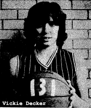 Garnavillo's Vickie Decker following her two game 76 & 55 point games, 131 points in 2 straight games.
