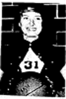 Basketball player Pat Eldridge, guard, Lake Center Girls' Basketball Team 1961-82; from the Ruthven Free Press 12/7/1961.