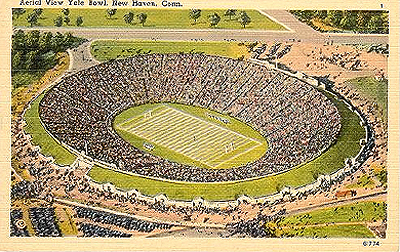 Old postcard of the Yale Bowl from high above