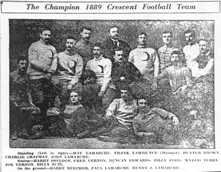 Crescent Athletic Club of Brooklyn Football Team, 1889.