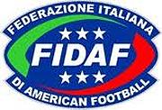 Fedeazione Italiana Di American Football (FIDAF) logo.