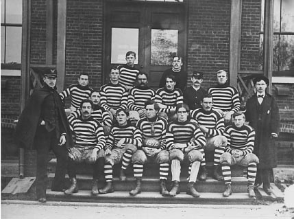1897 Willets Point football team photo, fro National Archives, courtesy of the Bayside Historical Society, Fort Totten.