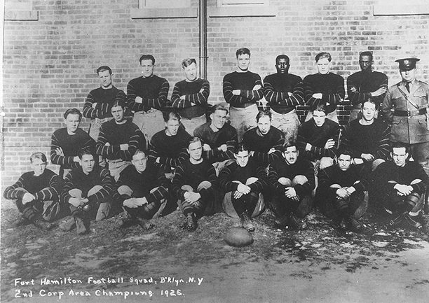 Fort Hamilton Football Squad, Brooklyn, N.Y.,2nd Corp Area Champions 1926. Team photo.