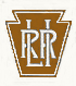 Long Island Rail Road's Pennsylvania Rail Road era emblem of interlocking L I R R.