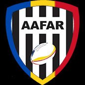 Logo for the Asociatia Arbitrilor de Fotbal American din România, AAFAR, the Romanian American Football referees association.