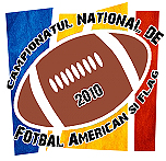 Logo for Campionatul National de Fotbal American Si Flag/2010, for the Flag Football league season for 2010.