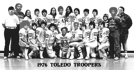 Team photo of the NWFL champion 1976 Toledo Troopers.