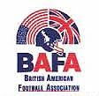 Logo for BAFA, British American Football Association