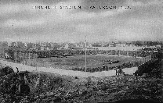 Old postcard of Hinchliffe Stadium, Paterson, New Jersey. c.1932