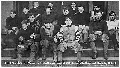 Team photo of the 1902 Norwich Free Academy football team (Connecticut)