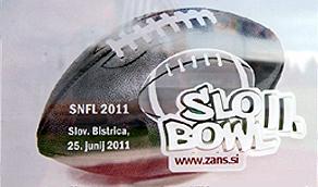 Slo Bowl II ad: SNFL 2011/ Slav. Bistrica/ 25 Jun, 2011.