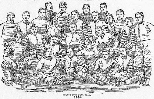 Orange Athletic Club football team, 1894, from Brooklyn Daily Eagle, Oct. 21, 1894.