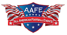 AAFE•All-American Football Events logo.