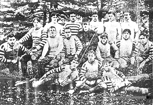 Team photograph of the 1893 Seton Hall College football team.