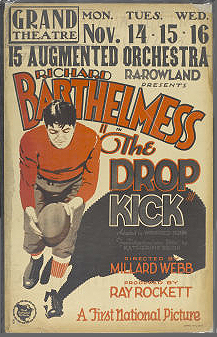 Ad for movie The Drop Kick (1927)