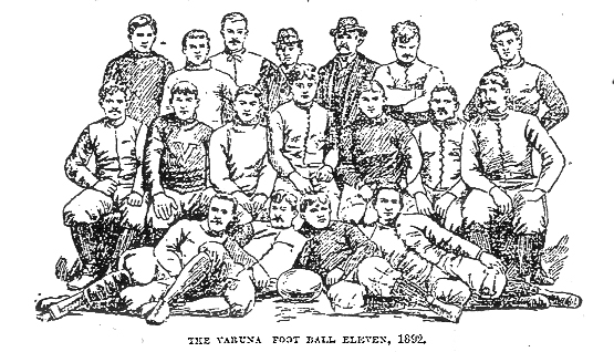 Varuna Boat Club Foot Ball Eleven, 1892, from Brooklyn Daily Eagle.