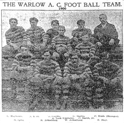 Warlow Athletic Club Football Team, 1900.