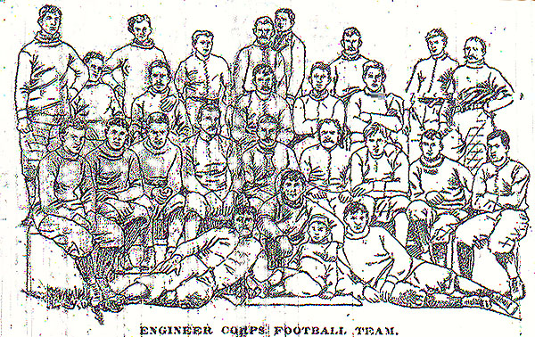 Willets Point U.S. Army Engineers Corp School Football Team, 1895.