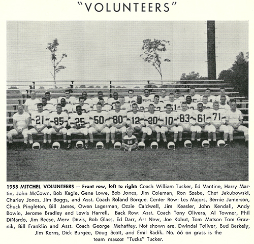 Team photo for 'Volunteers' 1958 Mitchel Volunteers.