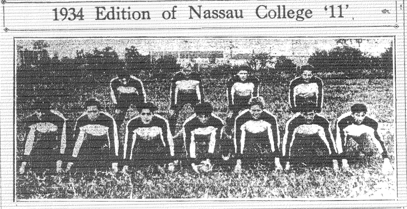 1934 Edition of Neassau College '11'