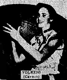 Picture of Janice Volkens, senior forward, Carson High, All-Southwestern Iowa in 1955