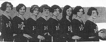 1925 National Champion Hemptead High School Girl' Basketball Team.