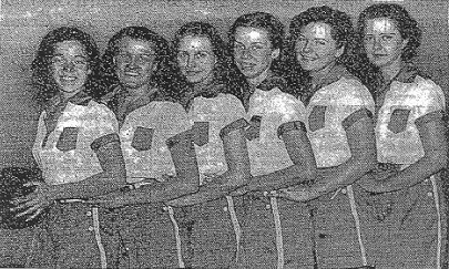 Team picture: New York University Girls Basketball Team, 1935.