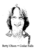 Betty Olson, Cedar Falls High School (Iowa) basketball player who scored 51 points against Marshalltown High, january 9, 1979.