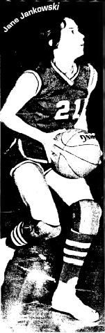 Picture of Jane Jankowski, West Central High School basketball player, Maynard, Iowa, c.1974