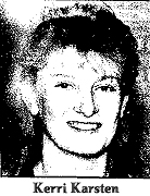 Picture of Kerri Karsten picture, Sumner High School Acette basketball player who scored 60 points in a game against the Oelwein Huskettes, January 18, 1992, breaking her sister Kerri's 1981 record of 58.