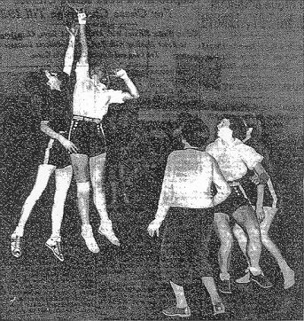 """Action in N.Y.U.-Connecticut State Game Yesterday,"" from New York Times, January 11, 1936."